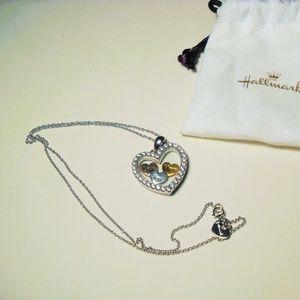 Hallmark Sterling Silver CZ Love You More Necklace